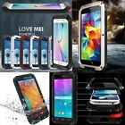 LOVE MEI Aluminum Metal Water Proof Case Cover For Samsung Galaxy S6/5/4/3 A5 A3