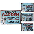 GRUMPY OLD GIT WALL PLAQUE HOME GIFT FUNNY VINTAGE TIN METAL 3D RETRO XMAS FUN