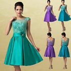 1950s Vintage Lace Style Princess Pretty Short Cocktail Evening Party Dresses