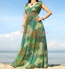 Evening Party Plus Size Peacock Prom Xmas Gift Long Maxi Dress XL 1X 2X 3X 4X 5X
