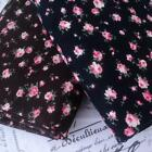 FLORAL BABYCORD 100% COTTON FABRIC  PINK BROWN NAVY fine corduroy