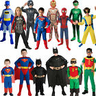 Licensed Childs Classic Superhero Fancy Dress New Costume Superheroes Kids Boys