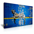 Banksy Bronx Zoo Leopard Modern Wall Art Canvas Print Framed Box ~ Many Sizes