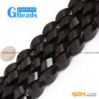 "Twist Grum Black Agate Onyx Loose Beads Strands 15"" Multisize for Jewelry Making"