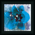 Tulip Fresco by Erin Cark Blue Floral Framed Art Print Wall Décor Picture