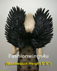 Duo Use costume feather angel wings pointing up/down Adult Unisex Black or White