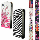 HOT Nice Vertical Flip Leather Card Slot Case Cover For Apple iPhone 4 4S 5 5S