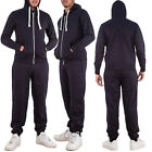 New Mens Jogging Bottoms Fleece Hoodie Zipped Plain Sweatshirt Size S M L XL XXL