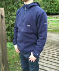 Mens Trespass Large L Leadville Microfleece Navy Blue Zip Hooded Fleece Jacket