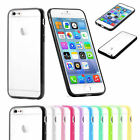 TPU Gel Rim Bumper Hard Case With Frost Clear Transparent Back Skin For iPhone 6