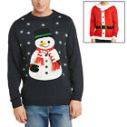 Adults Unisex 3D Xmas Christmas Festive Novelty Knitted Jumper Santa Or Snowman