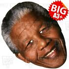 NELSON MANDELA BIG Face Mask A3 & A4 SIZE : PRIME MINISTER SOUTH AFRICA PEACE