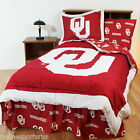 Oklahoma Sooners Comforter Sham and Valance Twin to  King Sets