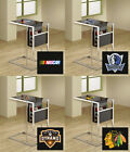 FC693 SPORTS THEME SLIDE UNDER BLACK GLASS SHELF TV TRAY MAGAZINE RACK FREE SHIP