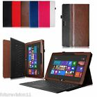 Microsoft Surface RT/Surface 2 Windows 8 Leather Case Cover w/ Keyboard Holder