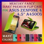 "ACM-MERCURY PREMIUM DIARY FLIP CASE for ASUS ZENFONE 4 4.5"" A450CG WALLET COVER"