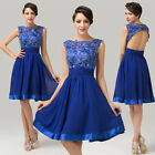 Appliques Satin Prom Ball Lace Party Cocktail Bridesmaid Formal Evening Dress 01