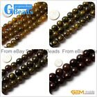 "Round Green Crackled Agate Loose Beads Strands 15"" 10-20mm for Crafts Making"