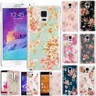 Floral Pattern Matte Hard PC Cover Case Skin For Samsung Galaxy Note 4 IV N9100