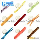 """Tiny Round Spacer Seed Gemstone Loose Beads 15"""" for Jewelry Crafts Making 2/3/4m"""