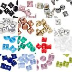 50 Czech Hour Glass Shaped 6mm x 4mm Pellet Interlocking Beads for Weaving