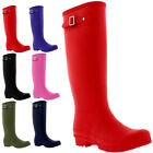 Womens 100% Natural Rubber Waterproof Knee High Welly Snow Rain Boots UK 3-9