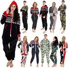 Womens Onesie Ladies Jumpsuit Aztec Camouflage USA UK Flag Print Mens Loungewear