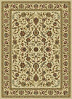 Ivory Traditional Oriental Floral Vine Area Rug Multi Bordered Persian Carpet