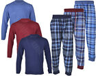 PJ4 Mens Loungewear  Brushed Check Flannel Cotton Pyjama Set Winter Warm Pjs