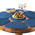 Collections Etc Padded Round Table Placemats And Centerpiece, 7Pc