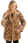 Collections Etc Faux Fur Leopard Shawl Collar Jacket