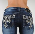 Miss Me Jeans 'Lacey Daze Cross' Lace Leather Boot 25 26 27 28 29 30 31 32 33 34