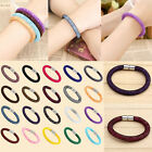 HOT Women Fashion Stardust Crystal Wrap Magnetic Clasp Mesh Bracelet Bangle Gift