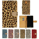For Samsung Galaxy Note 4 Leopard Print Leather Flip Wallet Case Pouch w/ Strap