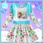 Disney Frozen Princess Elsa & Anna Christmas School Party Dresses AGE 2 3 4 5 6Y