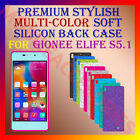 PREMIUM RICH MULTI-COLOR SOFT SILICON BACK CASE for GIONEE ELIFE S5.1 COVER NEW
