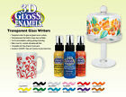 DecoArt 3D GLOSS ENAMEL Transparent Glass Paint WRITERS 2 oz ~ PICK YOUR COLOR