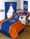 New York Mets Comforter Sham Bedskirt Pillowcase Twin to King Size Sets
