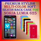 ACM-PREMIUM MULTICOLOR SOFT SILICON BACK CASE for NOKIA LUMIA 625 MOBILE COVER