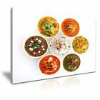 INDIAN FOOD COLLECTION Canvas Framed Print Restaurant Deco ~ More Size