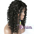 "Spiral Curly 100% Brazilian remy human hair full lace wigs/lace front wigs8""-22"""