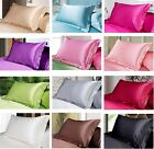 """1 Piece Soft Smooth Solid Satin Pillow Case 20"""" X 31"""" CM 13 Colors"""
