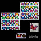 Transparent Film Butterfly #12 RAINBOW size 3 UN-CUT 10, 20, 40 suncatchers 3D