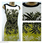 NEW DEBENHAMS RED HERRING DRESS TUNIC SHIFT FLORAL BLACK LIME CREAM SIZE 8 - 18