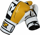 Auth RDX Leather Gel Boxing Gloves Fight Punch Bag MMA Muay thai Grappling Pad O
