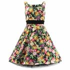 HR London Kleid MIX FLOWER LONG DRESS 9071