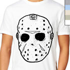 JASON HOCKEY MASK T-Shirt. Cult Horror Movie Halloween, Serial Killer Voorhees