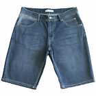 New Men's Jeans Denim Shorts Straight Leg Dark Blue SZ 27 29 30 31 32 33 34