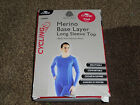 WOMENS 100% merino wool baselayer long sleeve jersey shirt vest base layer