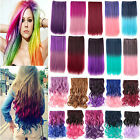 Beauty 60Colors Long 55cm-65cm Colorful Hair Extensions Curly/Straight 5clips